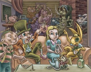 Alice in Central Perk