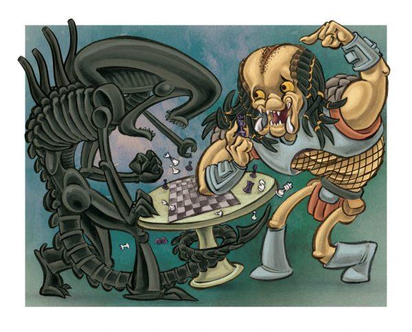 Alien vs Predator w border