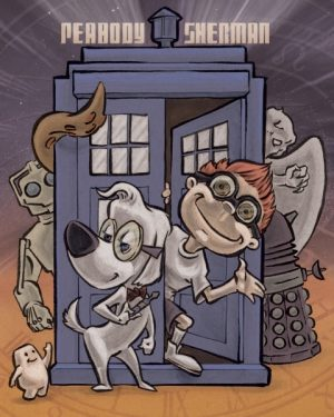 Peabody and Sherman and the Tardis