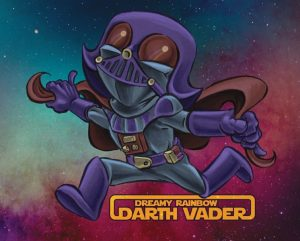 Dreamy Rainbow Darth Vader